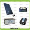 Kit baita pannello solare 200W 12V inverter onda pura 1000W batteria AGM 200Ah regolatore EPsolar