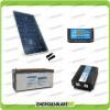 Kit baita pannello solare 200W 12V inverter onda pura 2000W batteria AGM 200Ah regolatore NVsolar