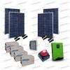 Kit Solare Casa al Mare non Connessa a Rete Enel 3kw 24V + Pannelli 1.1KW + Batt AGM