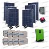 Kit Solare Casa al Mare non Connessa a Rete Enel 5kw 48V + Pannelli 1.6Kw + Batt AGM