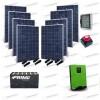 Kit Solare Casa al Mare non Connessa a Rete Enel 5kw 48V + Pannelli 2.2Kw + Batteria OPzS