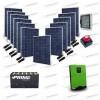 Kit Solare Casa al Mare non Connessa a Rete Enel 5kw 48V + Pannelli 3.3Kw + Batteria OPzS
