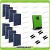 Impianto fotovoltaico 2.2KW con pannelli solari Inverter Edison50 5kW 48V regolatore PWM 50A