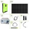 Impianto solare fotovoltaico 4.2KW 48V pannello monocristallino inverter ibrido 5KW MPPT 80A batteria litio 10Kwh