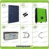 Kit solare fotovoltaico 4.2KW Inverter onda pura Infinity 5000W 48V regolatore MPPT 10Kw 900Vdc Batterie AGM