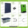 Kit solare fotovoltaico 2.8KW Inverter onda pura Infinity 5000W 48V regolatore MPPT 10Kw 900Vdc Batterie GEL