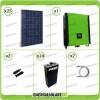 Kit solare fotovoltaico 7KW Inverter onda pura Infinity 5000W 48V regolatore MPPT 10Kw 900Vdc Batterie OPzS