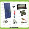 Kit Solare Camper PLUS Pannello Poli 150W 12V carica Batteria Motore e Servizi