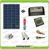 Kit Camper pannello solare 100W 12V passacavo supporto spoiler colla sigillante regolatore di carica