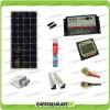 Kit Solare Camper PLUS Pannello Mono 100W 12V carica Batteria Motore e Servizi