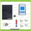 Kit Solare Camper 150W 12V policristallino Regolatore Doppia Batteria DuoRacer MPPT 10A Accessori
