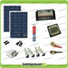 Kit Solare Camper PLUS Pannello Poli 200W 12V carica Batteria Motore e Servizi
