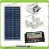 Kit Solare Camper Base 30W (Pannello Solare + Regolatore per doppia batteria + Passacavi)