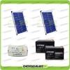 Kit cancello elettrico 40W 24V (pannelli solari fotovoltaici + regolatoredi carica +batterie)