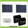 Kit cancello elettrico 60W 24V (pannelli + regolatore+batterie)
