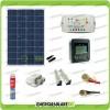 Kit Solare Fotovoltaico Pro Roulotte Caravan da 100W 12V Batteria Servizi