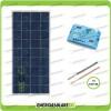 Kit Solare Fotovoltaico Base Roulotte Caravan da 150W 12V Batteria Servizi