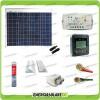 Kit Solare Fotovoltaico Pro Roulotte Caravan da 50W 12V Batteria Servizi