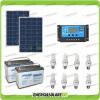 Kit solare illuminazione stalla, casa di campagna 160W 24V 8 lampade fluorescenti 11W 5 ore al giorno regolatore di carica NV