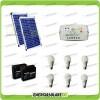 Kit solare illuminazione stalla, casa di campagna 40W 24V 6 lampade LED 7W 3 ore al giorno regolatore di carica LS