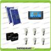 Kit solare illuminazione stalla, casa di campagna 40W 24V 6 lampade LED 7W 3 ore al giorno regolatore di carica NV