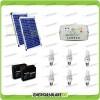 Kit solare illuminazione stalla, casa di campagna 40W 24V 6 lampade fluorescenti 7W 3 ore al giorno regolatore di carica LS