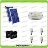 Kit solare illuminazione stalla, casa di campagna 40W 24V 4 lampade LED 7W 5 ore al giorno regolatore serie LS