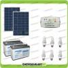 Kit solare illuminazione stalla, casa di campagna 160W 24V 6 lampade fluorescenti 15W 5 ore al giorno regolatore di carica EPSOLAR serie LS