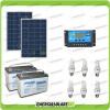Kit solare illuminazione stalla, casa di campagna 160W 24V 6 lampade fluorescenti 15W 5 ore al giorno regolatore di carica NV