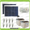 Kit solare illuminazione stalla, casa di campagna 100W 24V 8 lampade LED 7W 5 ore al giorno regolatore LS