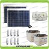 Kit solare illuminazione stalla, casa di campagna 100W 24V 8 lampade fluorescenti 7W 5 ore al giorno regolatore di carica LS