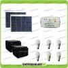 Kit solare illuminazione stalla, casa di campagna 60W 24V 6 lampade LED 7W 5 ore al giorno regolatore EPsolar LS