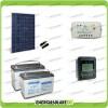 Kit Starter Plus Pannello Solare 280W 24V Batteria AGM 100Ah Regolatore PWM 10A LS1024B e Display MT-50