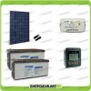 Kit Starter Plus Pannello Solare HF 280W 24V Batteria AGM 200Ah Regolatore PWM 10A LS1024B e Display MT-50