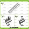 Kit Strutture 10 Pannelli Solari Modulo Verticale Fronte Sole spess. 40mm su tetto in Lamiera Grecata o Guaina Ardesiana