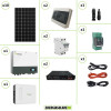 Kit Solare Storage Pannello Monocristallino 3250W e Inverter Monofase Growatt SPH4600 con doppio MPPT