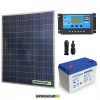 Kit Starter Plus Pannello Solare 200W 12V Batteria Gel 100Ah  Regolatore PWM 20A NV20