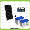 Kit Starter Plus Pannello Solare 300W 24V Batteria GEL 100Ah Regolatore PWM 20A Epsolar