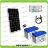 Kit Starter Plus Pannello Solare 300W 24V Batteria gel 100Ah  Regolatore PWM 20A LS2024B e Cavo USB RS485