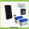 Kit Starter Plus Pannello Solare 300W 24V Batteria Gel 100Ah  Regolatore PWM 20A LS2024B e Display MT-50