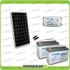 Kit Starter Plus Pannello Solare 300W 24V Batteria AGM 100Ah  Regolatore PWM 20A LS2024B