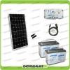 Kit Starter Plus Pannello Solare 300W 24V Batteria agm 100Ah  Regolatore PWM 20A LS2024B e Cavo USB RS485