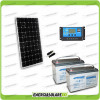 Kit Starter Plus Pannello Solare 300W 24V Batteria AGM 100Ah  Regolatore PWM 20A NV20