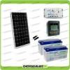 Kit Starter Plus Pannello Solare 300W 24V Batteria Gel 150Ah  Regolatore PWM 20A LS2024B e Display MT-50