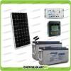 Kit Starter Plus Pannello Solare 300W 24V Batteria Agm 150Ah  Regolatore PWM 20A LS2024B e Display MT-50