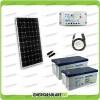 Kit Solare Fotovoltaico pannello monocristallino 300W 24V Batteria Gel 200Ah  Regolatore PWM 20A LS2024B e Cavo USB RS485