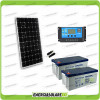 Kit Starter Plus Pannello Solare 300W 24V Batteria Gel 200Ah  Regolatore PWM 20A NV20