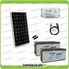 Kit Fotovoltaico Pannello Solare 300W 24V Batteria Agm 200Ah  Regolatore PWM 20A LS2024B e Cavo USB RS485