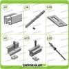 Kit Struttura 12 Pannelli Solari 40mm x Tetto a Falda Tegola Coppo o Tetto Grecato con Perno Tetto Metallo