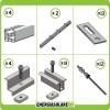 Kit Struttura 5 Pannelli Solari 40mm x Tetto a Falda Tegola Coppo o Tetto Grecato con Perno Tetto Metallo
